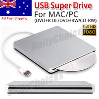 For Apple MacBook Air Pro USB External Slot In DVD RW CD Drive Burner Superdrive