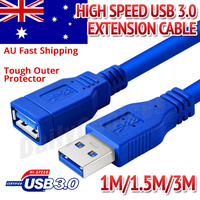 4FT USB 3.0 SuperSpeed Extension Cable Insulation Protected Gold Plated 1m/1.5m/3m
