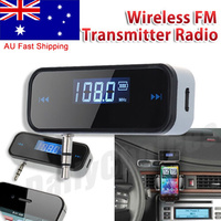 3.5mm Wireless Car FM Transmitter Handsfree Radio For iPhone 5 6S SAMSUNG GALAXY