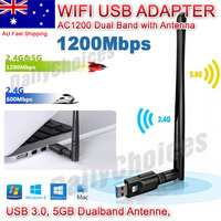 AC1200 USB 3.0 WiFi Wireless Adapter Dongle 802.11ac 5GHz Dual Band 11AC