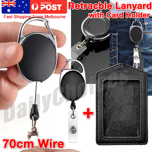 Retractable Lanyard ID, Card Holder, Business Badges, Security Pass EOFY