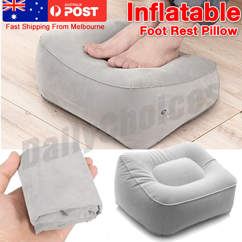 Plane Train Flight Travel Inflatable Foot Rest Portable Pad Footrest Pillow MN